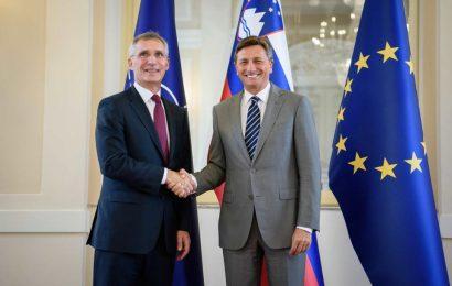 Pahor sprejel generalnega sekretarja zveze NATO
