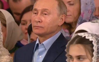 Putin praznoval božič z ortodoksnimi kristjani v St Peterburgu