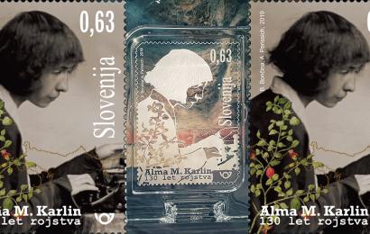 Nova poštna znamka popotnici Almi v Sloveniji