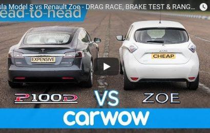 Zabavno: Renault ZOE proti Tesla Model S