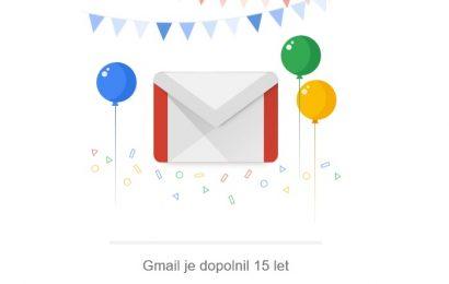 Gmail je dopolnil 15 let! Čestitke!