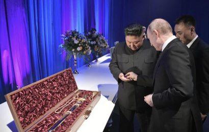 Srečanje Kim Jong Un in Vladimir Putina v Vladivostoku