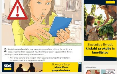 SDS z obsežno digitalno volilno kampanjo za EU