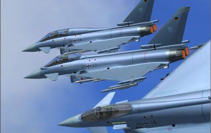 V Nemčiji nad jezerom trčila Nemška lovca Typhoon