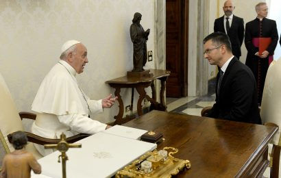 Marjan Šarec pri papežu