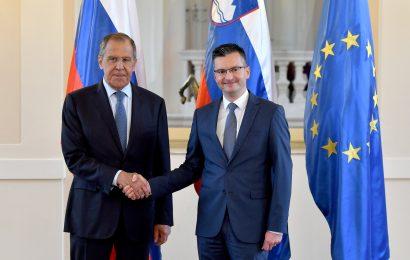 Lavrov obiskal Slovenijo in Marjana Šarca
