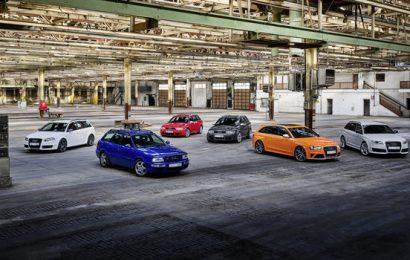 Audi praznjuje 25 let športnih modelov RS