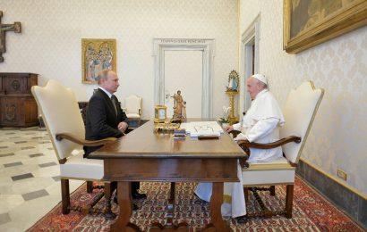 Vladimir Putin obiskal Italijo in Papeža