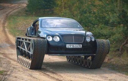 Rusi so spremenili avto znamke Bentley v tank (VIDEO)