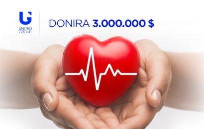 Skupina United Group bo za pomoč državam v regiji namenila 3 milijone USD, od česar 500.000 USD Sloveniji