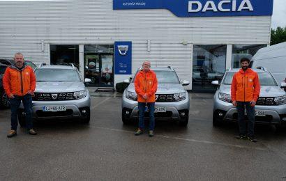 Dacia podarila v enoletno uporabo 3 vozila reševalcem z gora!
