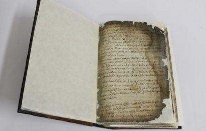 Konserviranje in restavriranje rokopisne knjige iz Škofič