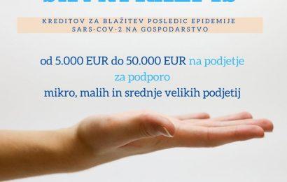 Krediti za blažitev posledic epidemije COVID 19 na gospodarstvo