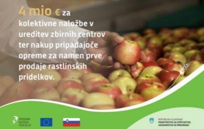Na dveh javnih razpisih več kot 13 milijonov evrov za naložbe v kmetijska gospodarstva
