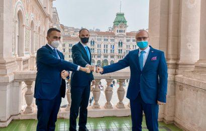 Srečanje ministrov za zunanje zadeve Slovenije, Italije in Hrvaške