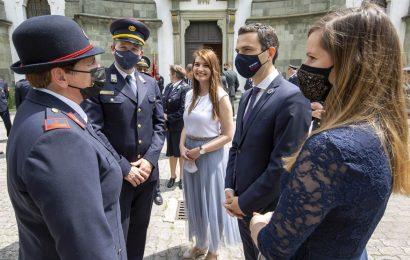 Minister Tonin v Gornjem Gradu: Gasilci in gasilke ste za slovensko skupnost nepogrešljivi