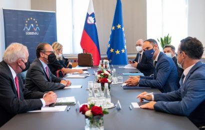 Minister dr. Logar z avstrijskim zunanjim ministrom mag. Schallenbergom o tesnem sodelovanju med sosedama